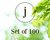 Upgrade to a Set of 100 Flat Stationery Cards