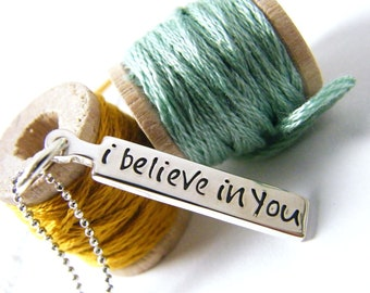 i believe in you inspirational encouragement necklace graduation promotion teen
