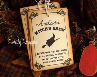 Authentic Witch's Brew Labels, Halloween, Tag, Tags 6