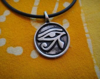 Ancient Egyptian Eye Of Horus Ra Pendant Necklace