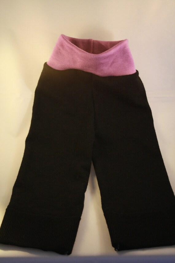 Medium--Lambie Love Wool Longies--Babies on Broomsticks--Cloth Diaper Cover
