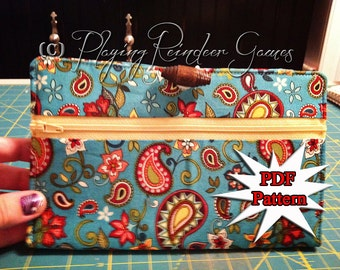 PATTERN Reward Card / Credit Card Wallet PDF Sewing Pattern (instant download)