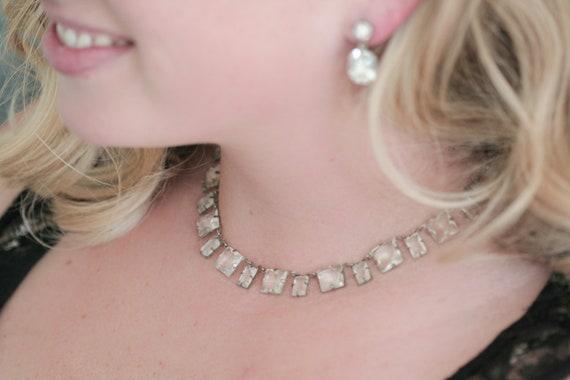 Stunning Glass Stone Necklace- Free U.S. Shipping