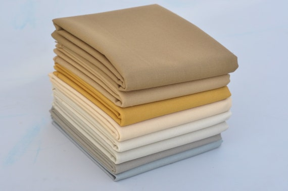 NEW Bella Solids 'Neutrals' Bundle of 8 Fat Quarters from Moda's Fall 2012 Release