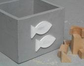 Nautical storage box for the home - Children , Baby, Nursery - Customized