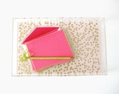 Lucite Tray - Midi - Confetti Blush/Gold