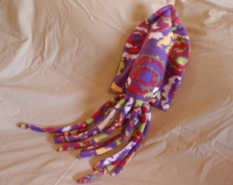 Made to Order Angeline the Purple Graffiti Fleece Cuddlefish Stuffed Animal Cuttlefish