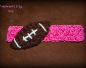 Crochet Football Headband for Baby