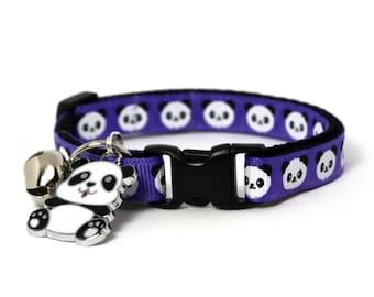 Cat Collar Purple Pandas