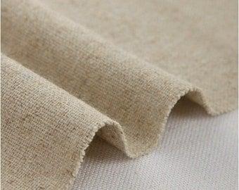 Cotton Linen Fabric Cloth -DIY Cloth Art Manual Cloth -Plain coloured cotton Fabric 62 x18 Inches