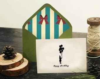 1Sets Kraft Paper Envelope And Carrd Sets- Happy Birthday