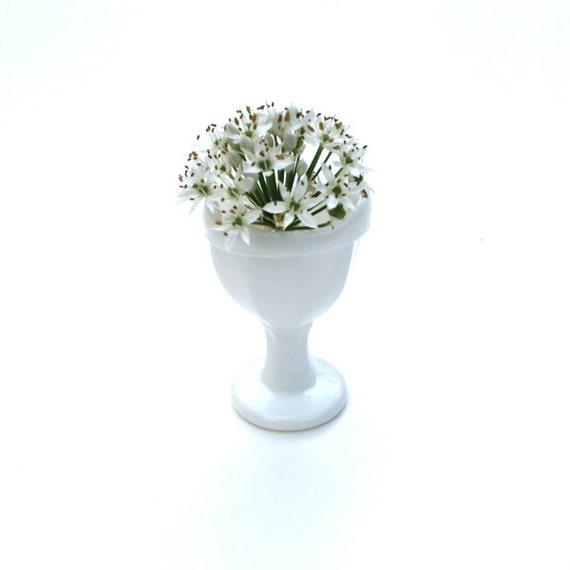 Vintage Eye Wash Rinse Cup Milk Glass White Victorian
