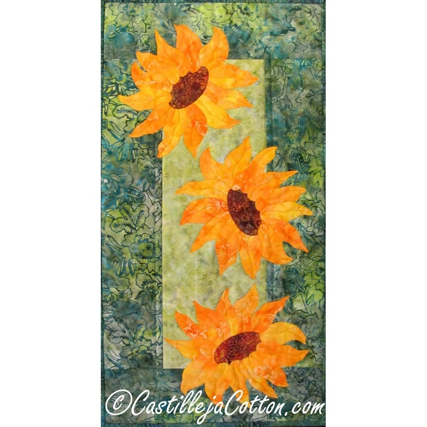 Breezy Sunflowers Quilt Epattern 4384 10 Flower Wall Quilt