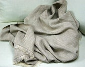 Linen Blanket -Sand- linen throw, linen bedspread, pure linen, Eco-friendly,