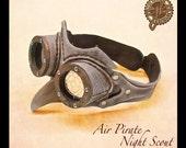 """Air Pirate """"Night Scout"""" steampunk costume goggles"""