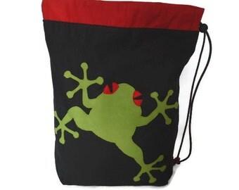 Red eyed tree frog drawstring gym school PE bag