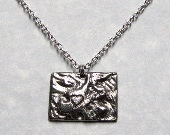 Love State Colorado Necklace Pendant