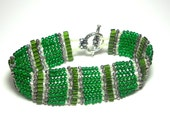 Emerald Beadwoven Bracelet