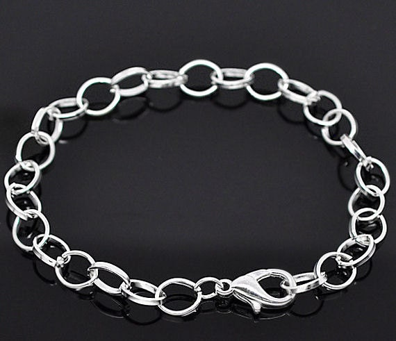 2 Link Chain Bracelets Perfect Base for Jewelry Creations - N25