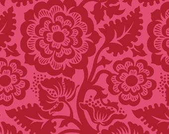 Joel Dewberry Fabric Blockade Blossom Crimson 8 Inches
