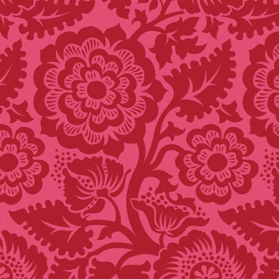 Joel Dewberry Fabric Blockade Blossom Crimson 8 Inches