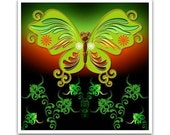 20% OFF - Green & Red Butterfly Coaster
