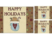 Gingerbread Christmas Card Set