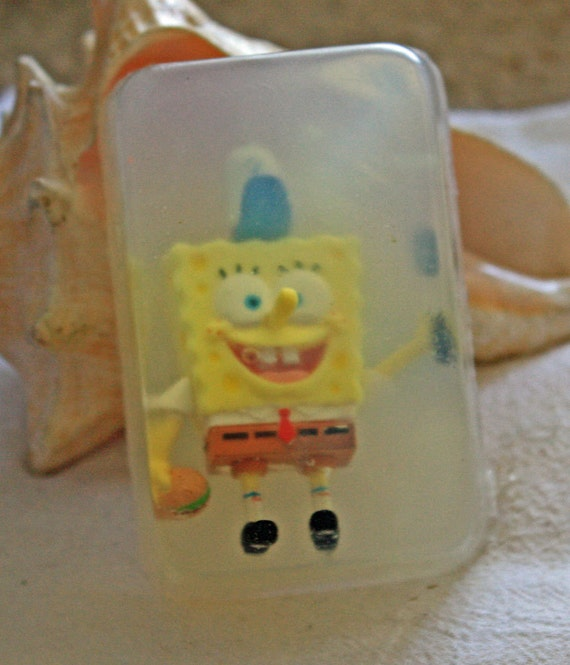 Sponge Bob Square Pants toy in a Bar of Soap    fun toys in soap      Ship 4 for 5