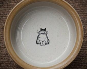 Fat Cat Bowl - Teddy Bear Brown/Tan (Medium)