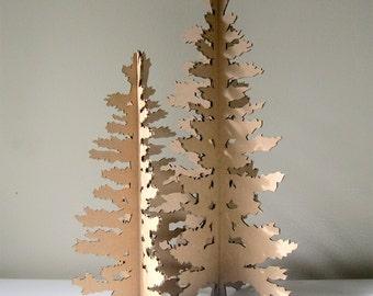 Cardboard Christmas Tree - Paper Christmas Tree, Holiday Decoration, Tree cut out, Tree Silhouette, Festive tree