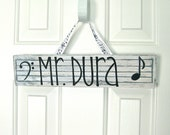 Music Teacher Name Plate - Teacher Sign - Customizable - Personalized