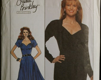 Simplicity 8905 Misses Dress with Sweetheart Neckline or Special Occasion Dress Vintage Sewing Pattern  Sz 12