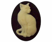 40x30 cameo Black Cat cabochon Resin Cameo cat jewelry supply loose unset stone pet craft supply diy feline gifts craft part 382x