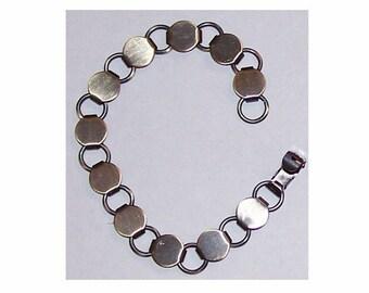 1 pc link bracelet 10mm pad & loop bracelet blank button bracelet glue on bracelet jewelry finding diy gemstone bracelet  329x