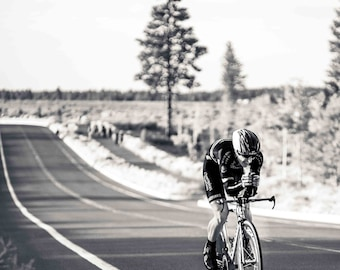 """Lonely Road  8x12"""" Cycling Photo Print"""