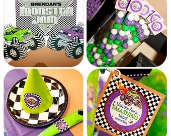 Monster Truck Birthday   Monster Truck Party   Grave Digger Party   Monster Truck Printable   Monster Jam Party   Amanda's Parties To Go