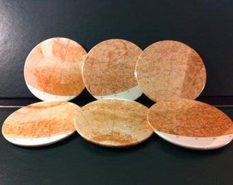 Vintage Celestial Coasters, Surface of Mars (Set of 6)