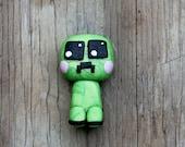 Custom Kawaii Creeper Polymer Clay Bead