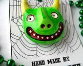 Hold for Msformaldehyde: Overcafinated Goblin - wearable art pin