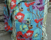Candy Raindrops and Poppies Tote Bag