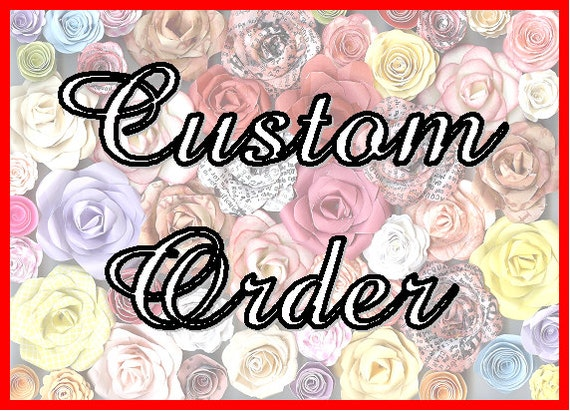 custom order for Claire