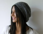 gray,crochet,headpiece,hat,Christmas gifts, Womens hat- womens Slouchy Beanie Fashion gifts Winter Accessories