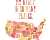 8.5x11 - USA Left My Heart Print