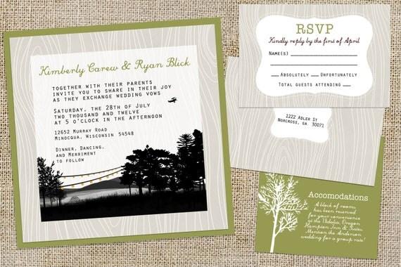 Lake Themed Wedding Invitations: Unavailable Listing On Etsy