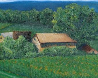 Landscape Country Farm Fine Art Reproduction