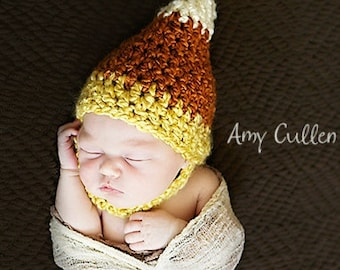 Baby Hat - Candy Corn Hat - Halloween Hat - Baby Hat - Autumn Baby Hat - by JoJosBootique