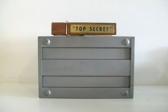 Vintage Weis Industrial Grey Metal File Box