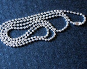 Sterling Silver plated BALL Chain - 24 inch adjustable