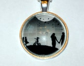A walk in Central Park New York City Glass Pendant