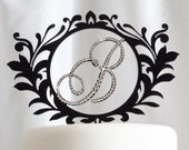 Monogram Cake Topper - Custom designed luxe wedding cake topper with Swarovski Crystals